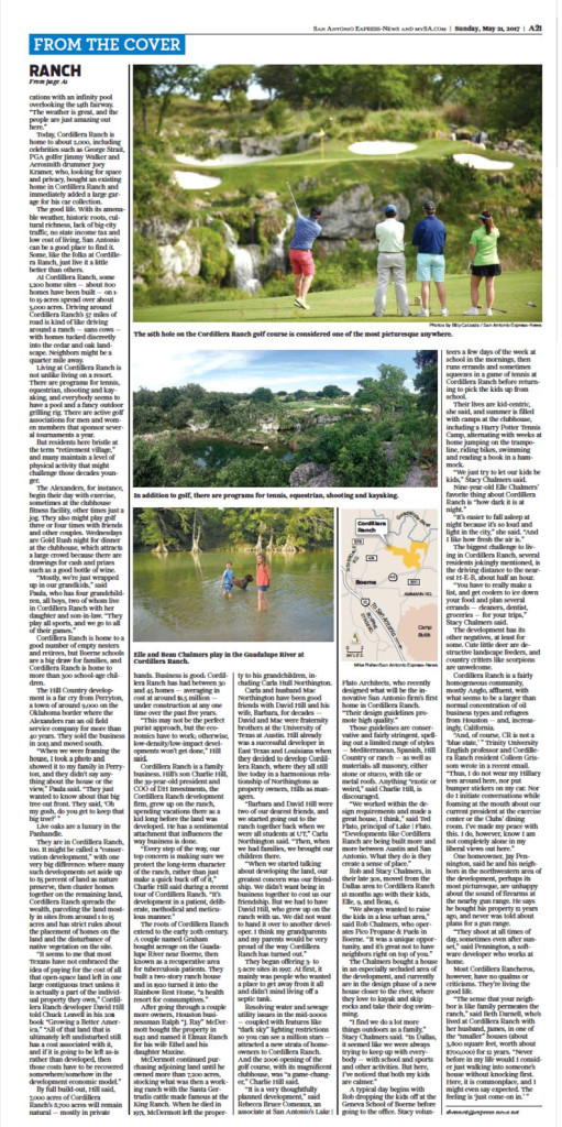 San Antonio Express (digital) 5.21.17 Cordillera Ranch